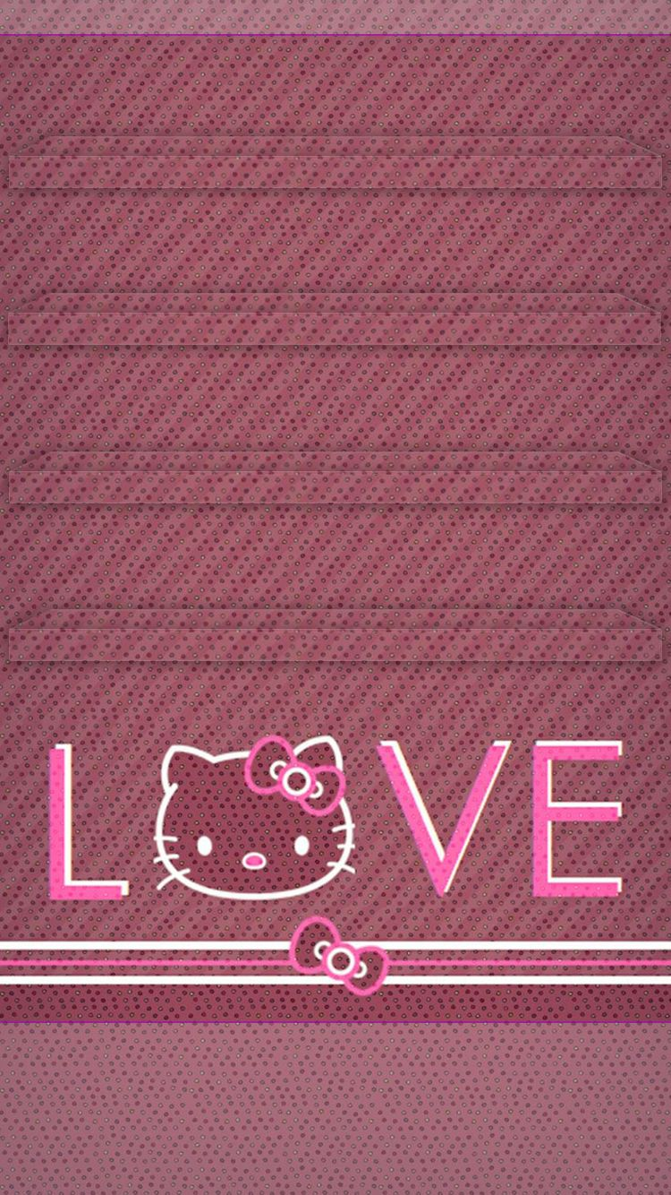 Tap and get the free app hello kitty for girls bow pink cute hello kitty for girls bow pink cute pretty cat girly love polka dot hd iphone 6 wallpaper voltagebd Images