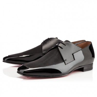christian louboutin new orleans flat black silk mens