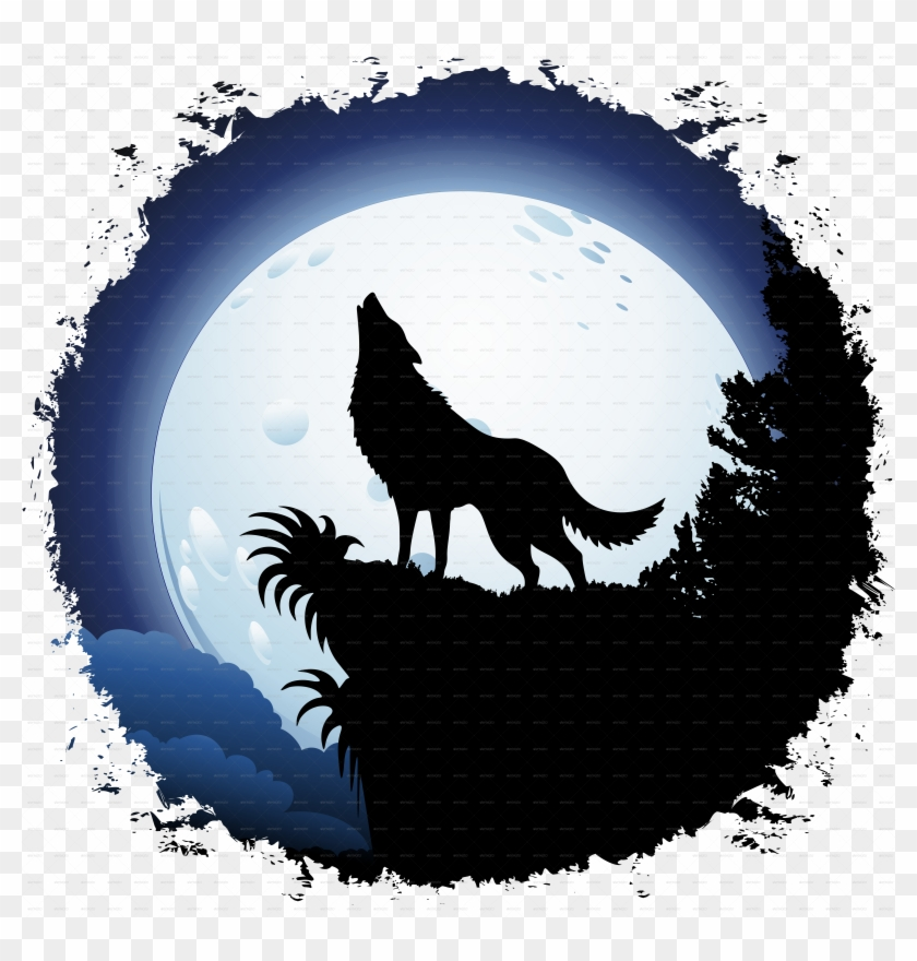 Find Hd Werewolf Clipart Howling Moon Wolf Howling At The Moon Clipart Hd Png Download To Search And Wolf Howling At Moon Wolf Howling Drawing Wolf Howling