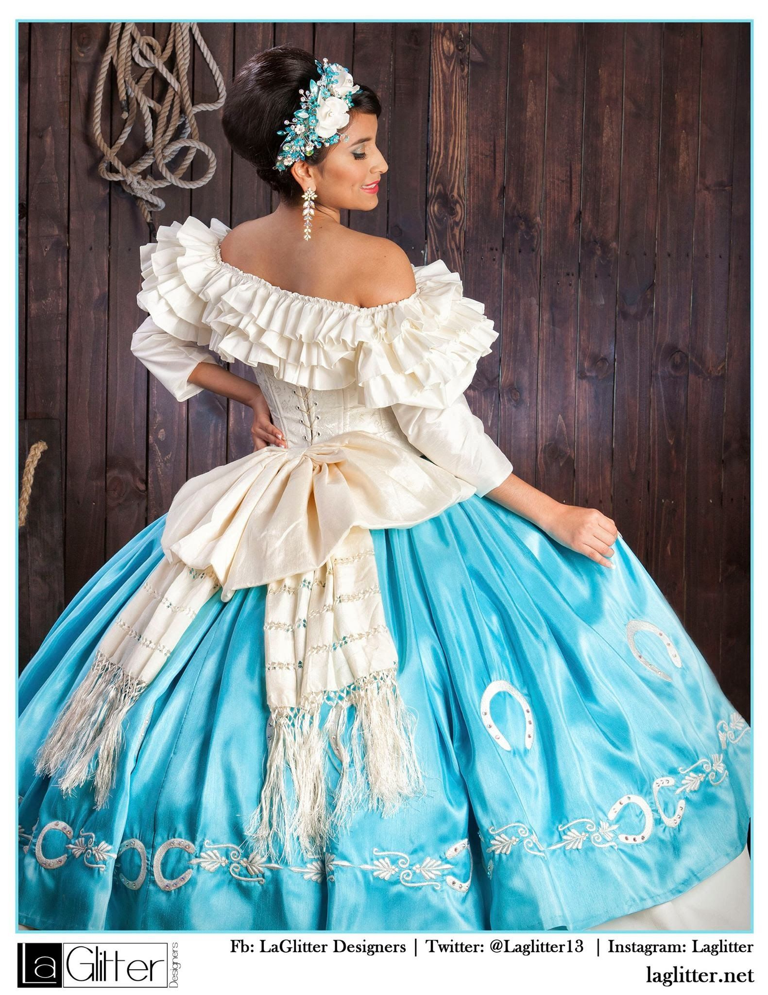 Pin by Magdalena on Vestidos charros de quinceañera | Pinterest
