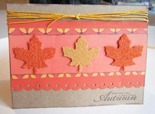don't  you just love these leaves (cut at 1 1/2 inches)?Deanna's Papercrafts: Straight from the Nest