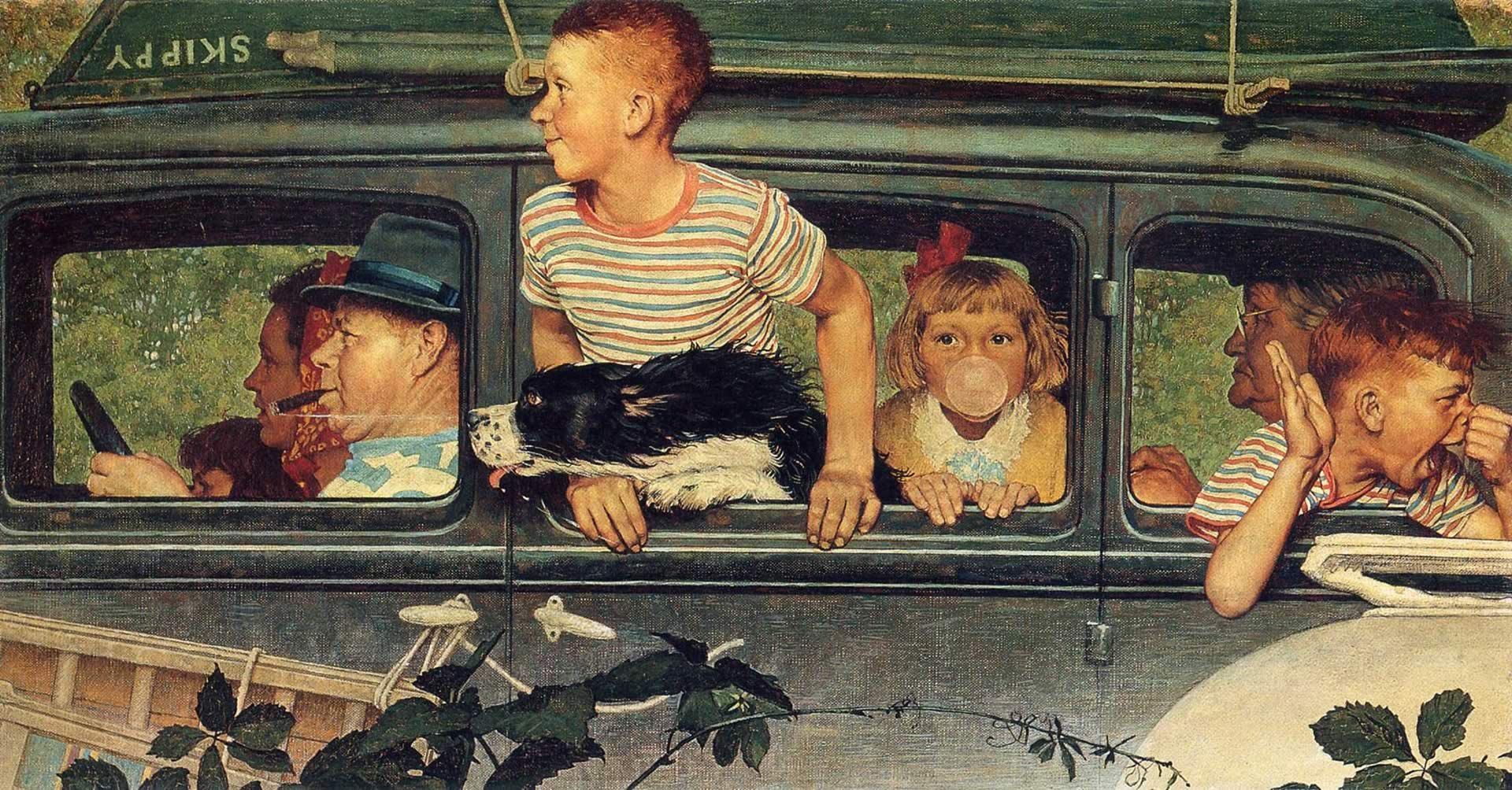 Going - Norman Rockwell Paintings Wallpaper Image | Capturing Joy ...