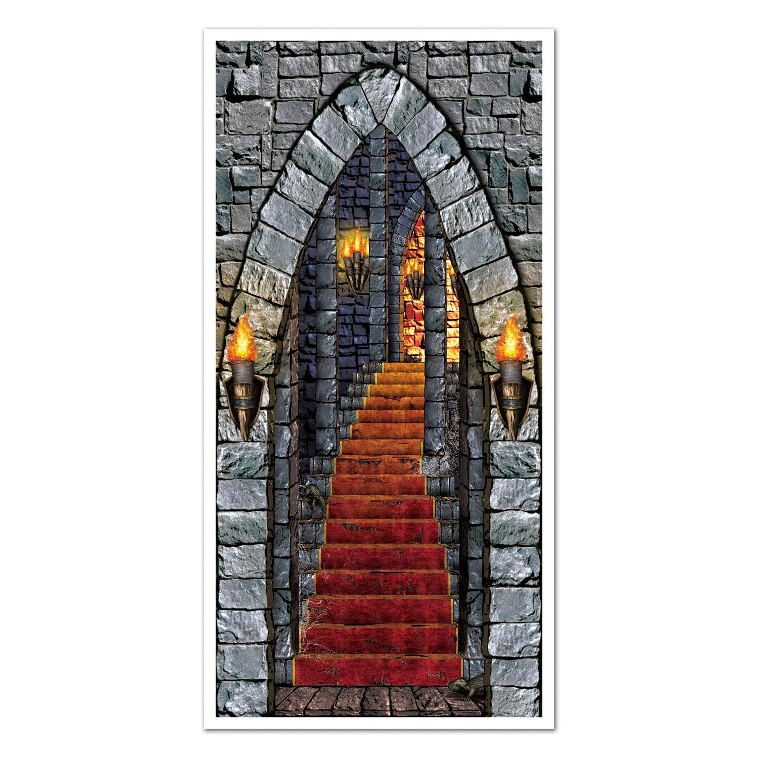 Castle Entrance Door Cover Party Accessory (1 count) (1/Pkg) Harry - Halloween Door Decorations