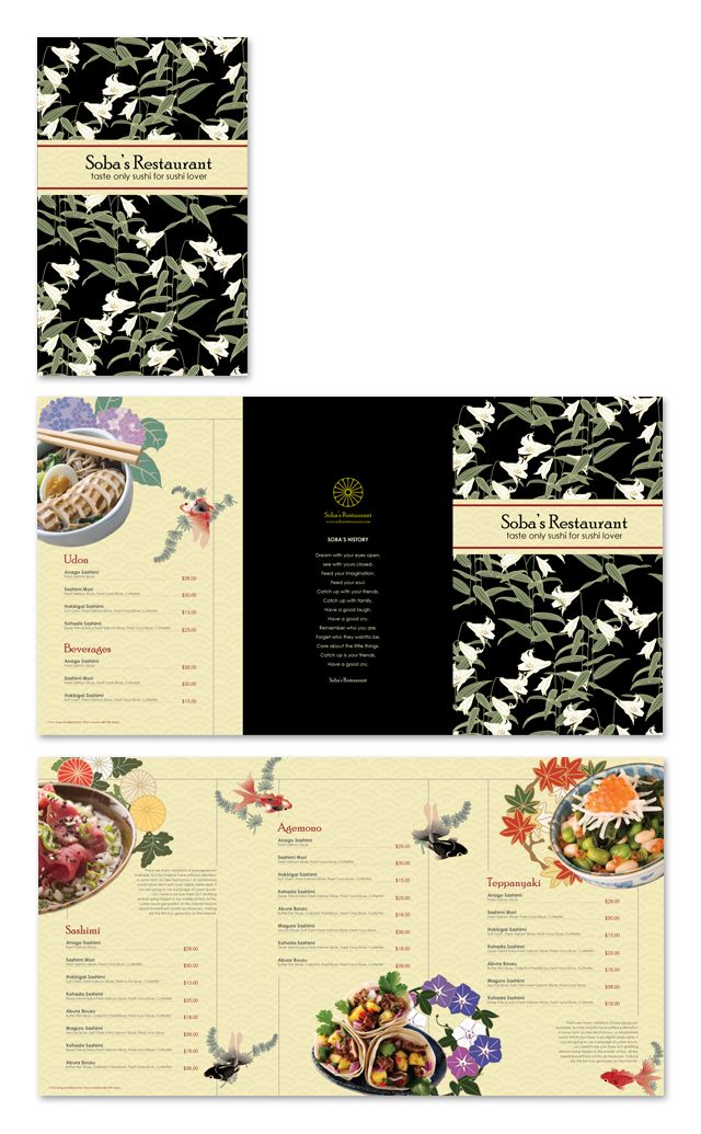 Japanese restaurant menu template graphic design pinterest japanese restaurant menu template pronofoot35fo Choice Image