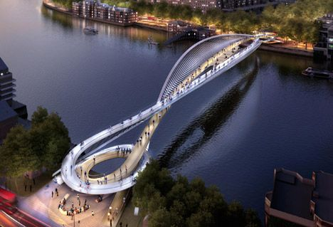 Architecture Design Engineer nine elms bridge design - graham stirk of rogers stirk harbour +