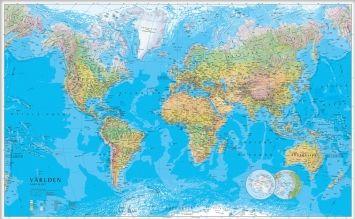 världskarta med namn tydlig