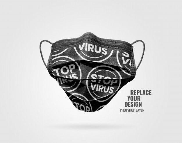 Black Mask Advertising Mockup in 2020   Black mask, Mask ...