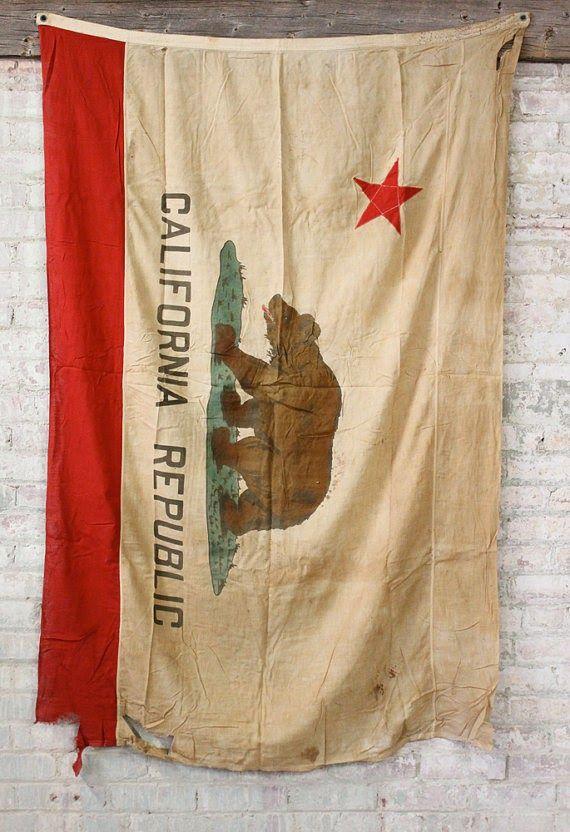 Vintage California Bear Flag from Etsy | Bear Flag Museum