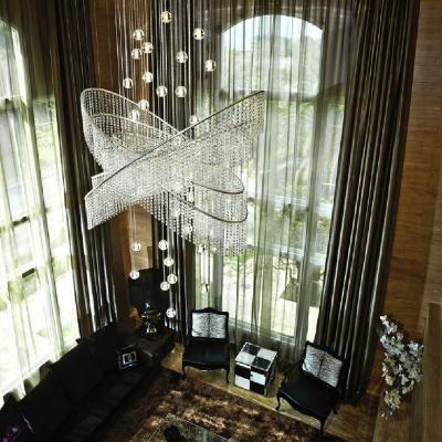 Lighting For High Ceilings Large Scale Interior Lighting Floor