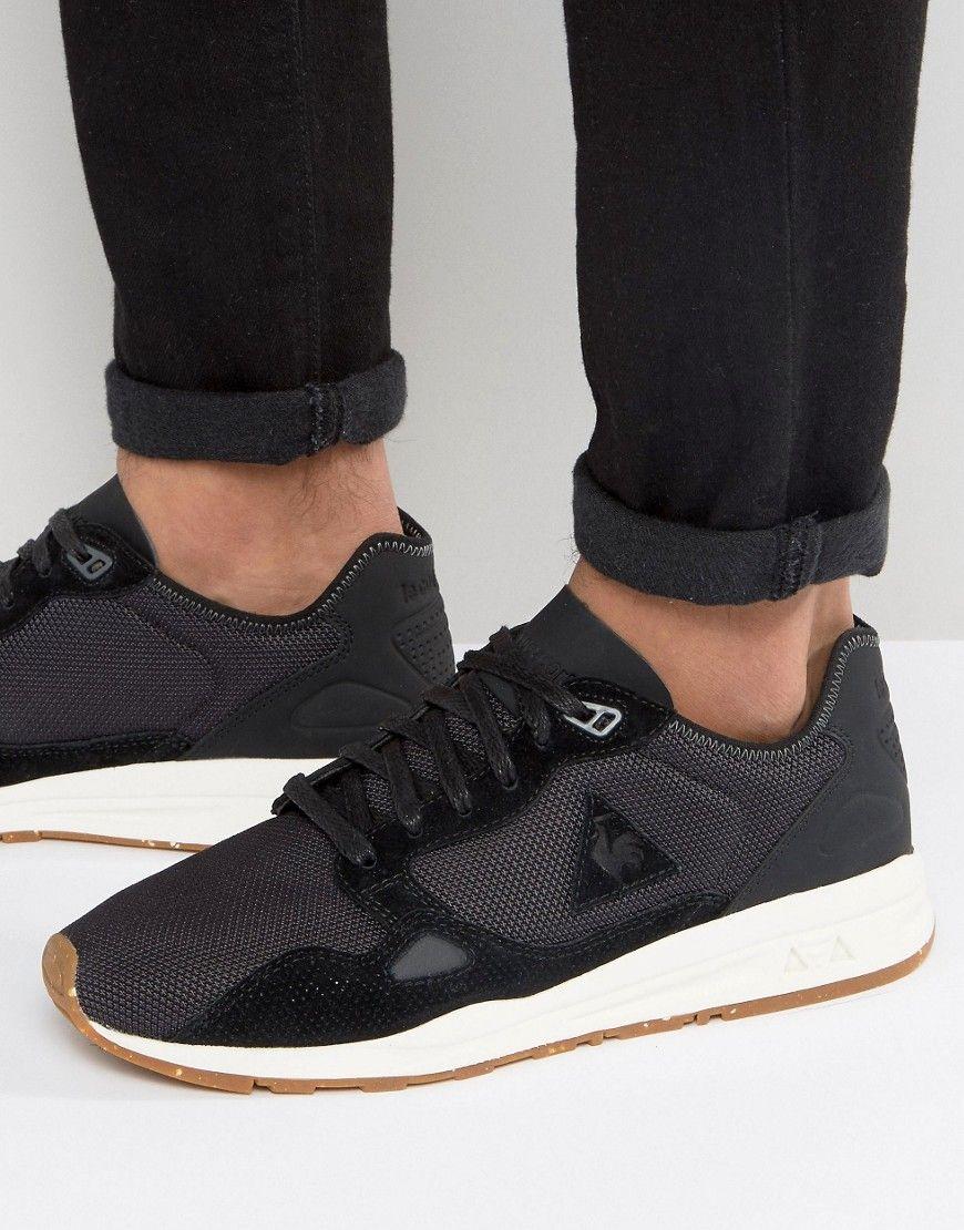 661868d8dc0b LE COQ SPORTIF R900 CORDURA PACK SNEAKERS IN BLACK 1710130 - BLACK.   lecoqsportif  shoes