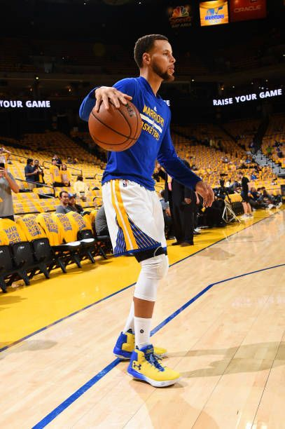 158e7202662b Stephen Curry of the Golden State Warriors warms up before Game One of the  Western Conference Semifinals of the 2017 NBA Playoffs on May 2 2017 at.