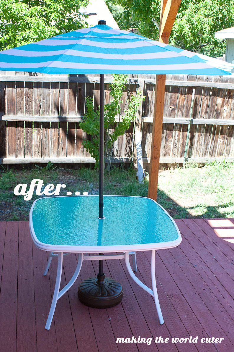 Using Patio Furniture Indoors: How To Make A Perfect Glass Patio Table Makeover