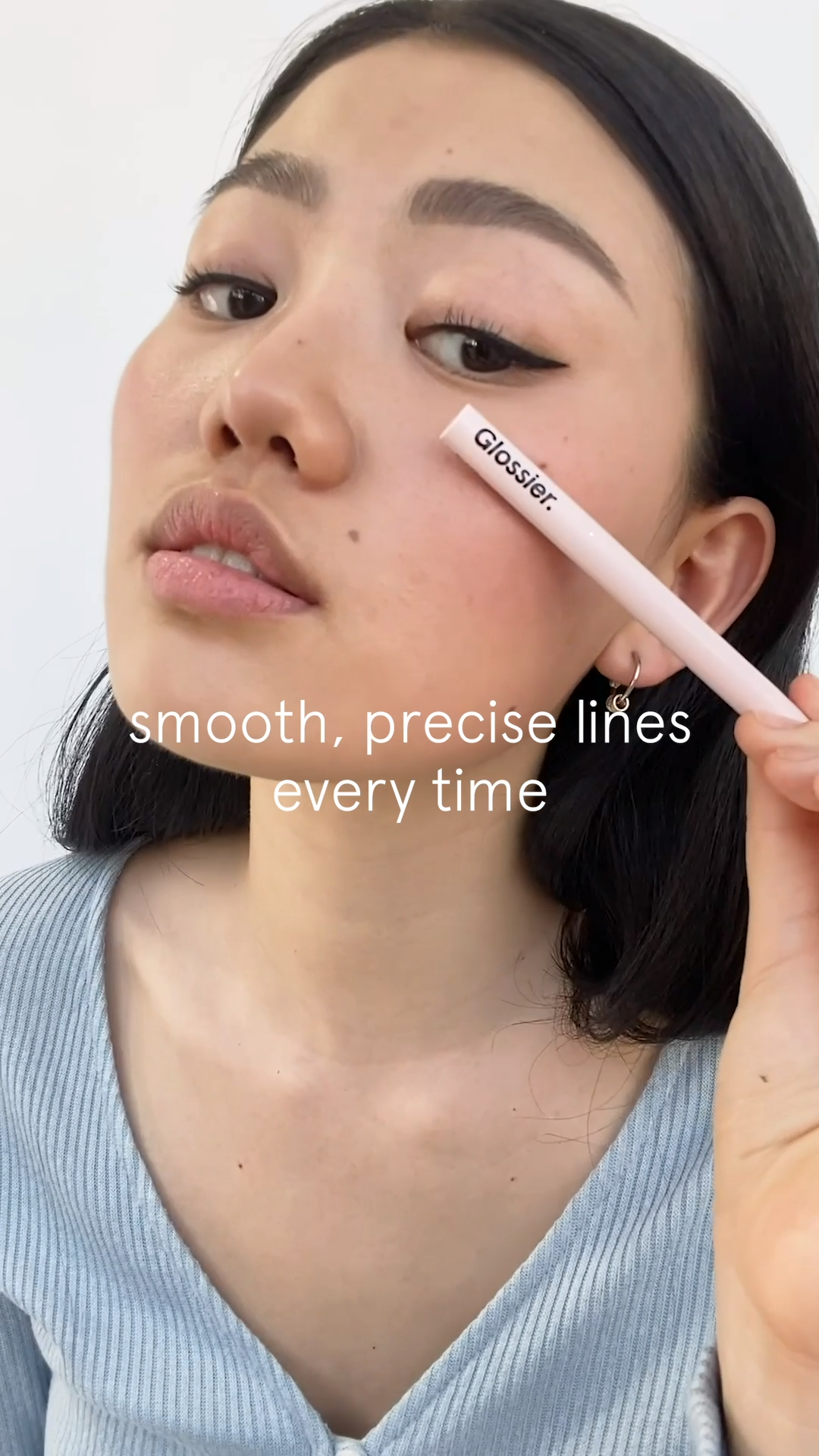 Photo of Get a smooth, precise line every time. Shop Pro Tip at Glossier.