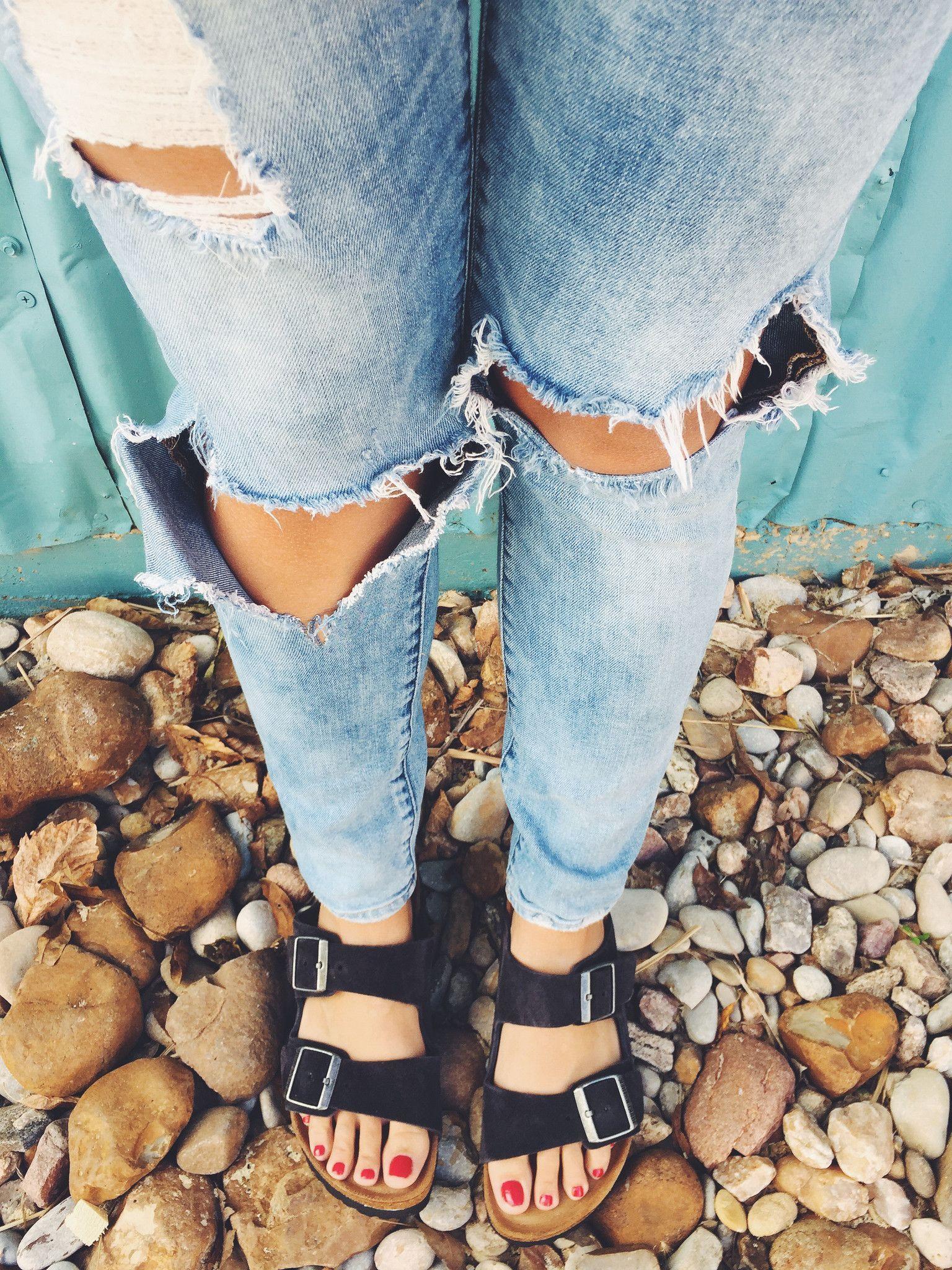BIRKENSTOCK: Arizona Soft Footbed Velvet Grey Suede in