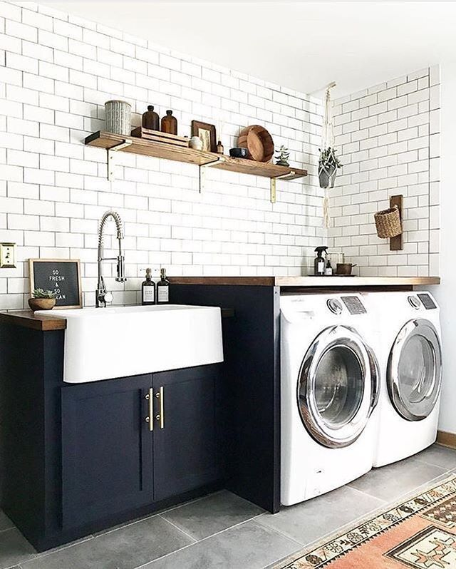 14 Basement Laundry Room Ideas For Small Space Makeovers Laundry