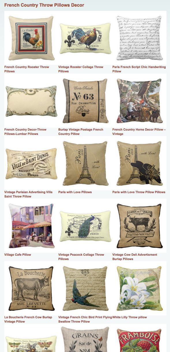 French Country Throw Pillows