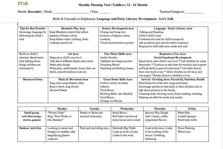 Sample Lesson Plans Preschool  Google Search  Preschool
