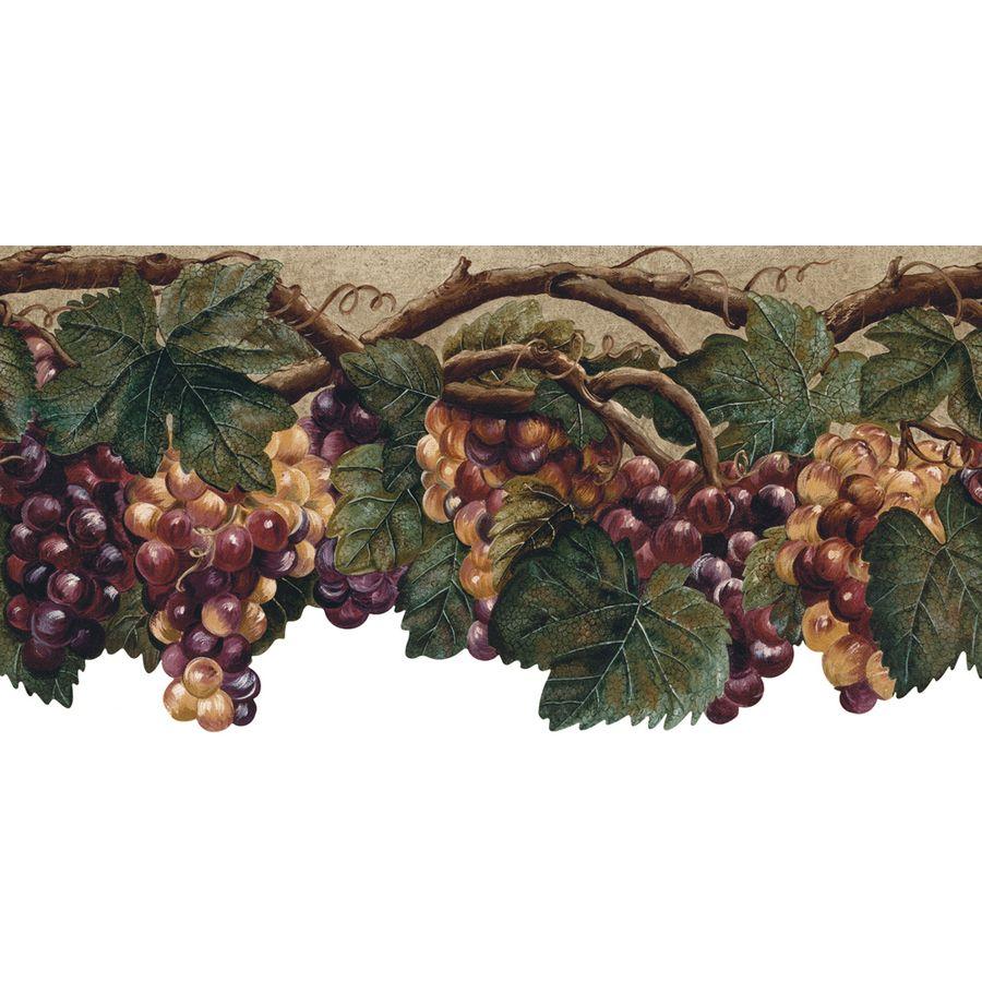 Kitchen wallpaper border  allen  roth in Purple Prepasted Wallpaper Border  wallpaper