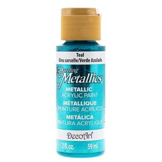 DecoArt 2-Ounce Teal Dazzling Metallics Acrylic Paint | Shop Hobby