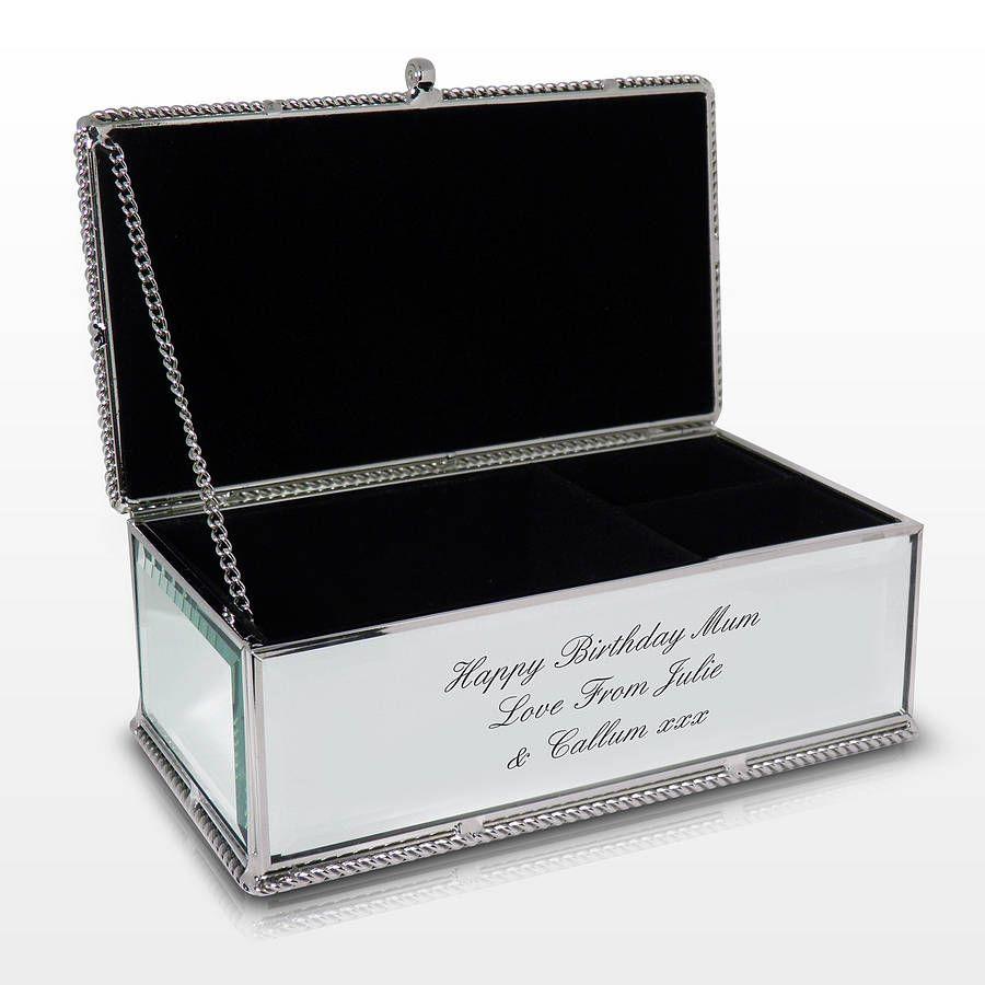 Personalised Jewellery Box Diy Creative Corner Engraved Jewelry