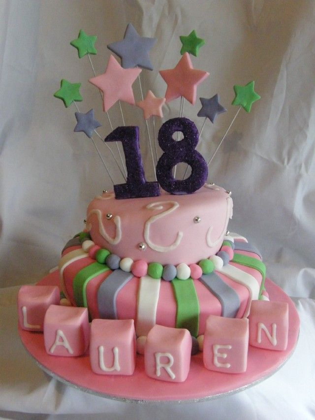 18th birthday cakes desserts pinterest 18th birthday for 18th birthday cake decoration