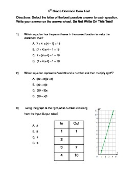 graphic relating to 5th Grade Math Assessment Test Printable identified as Pin upon Clroom - Well-known Main