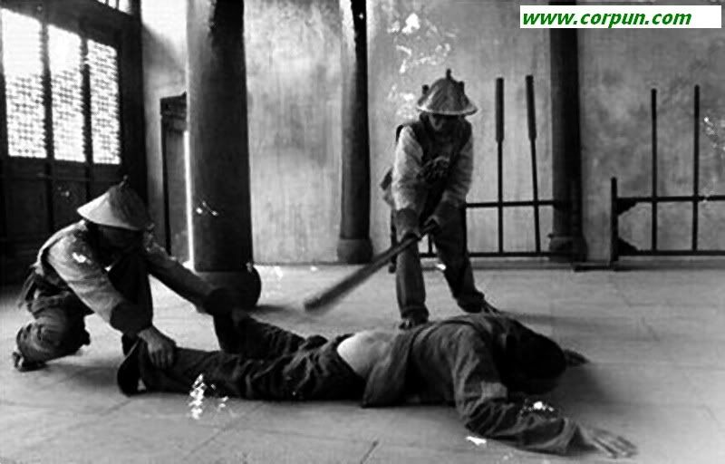 Judicial corporal punishment The offender is held in