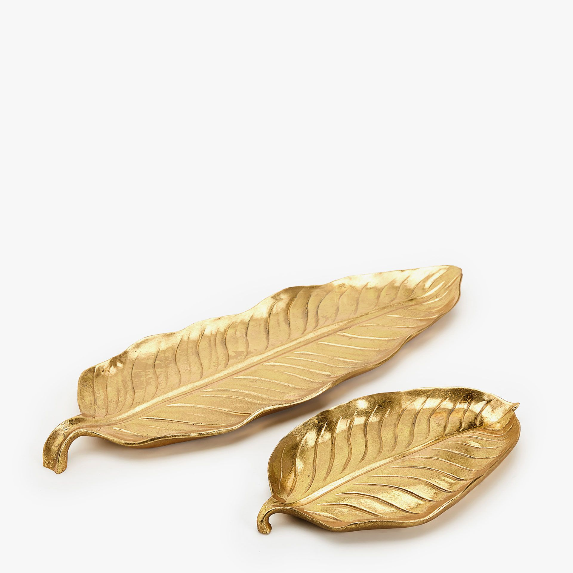 Image 1 of the product GOLD DECORATIVE LEAF TRAY   Desk Ideas ...