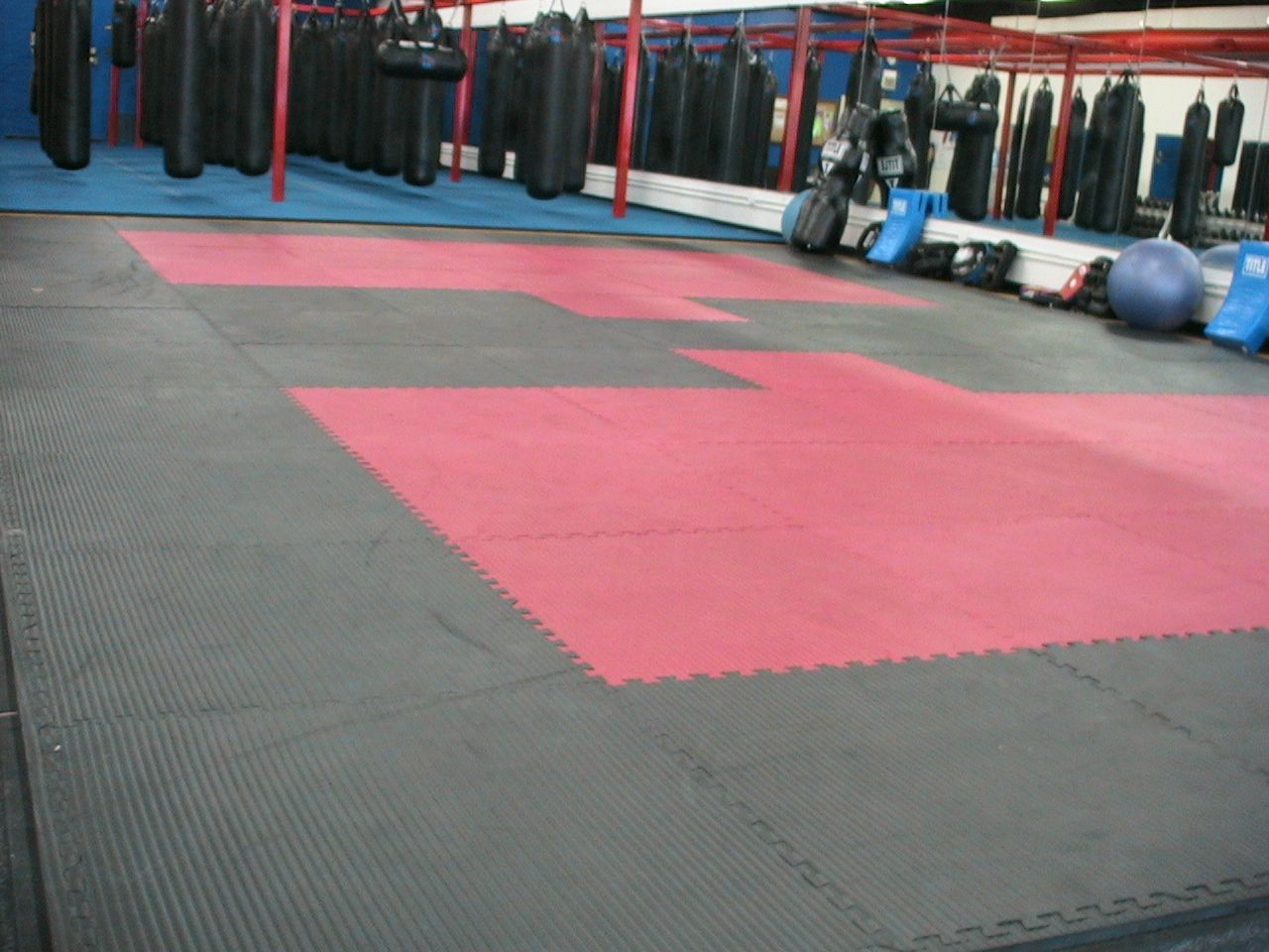Mat Space..Lots and lots of mat space Basketball court