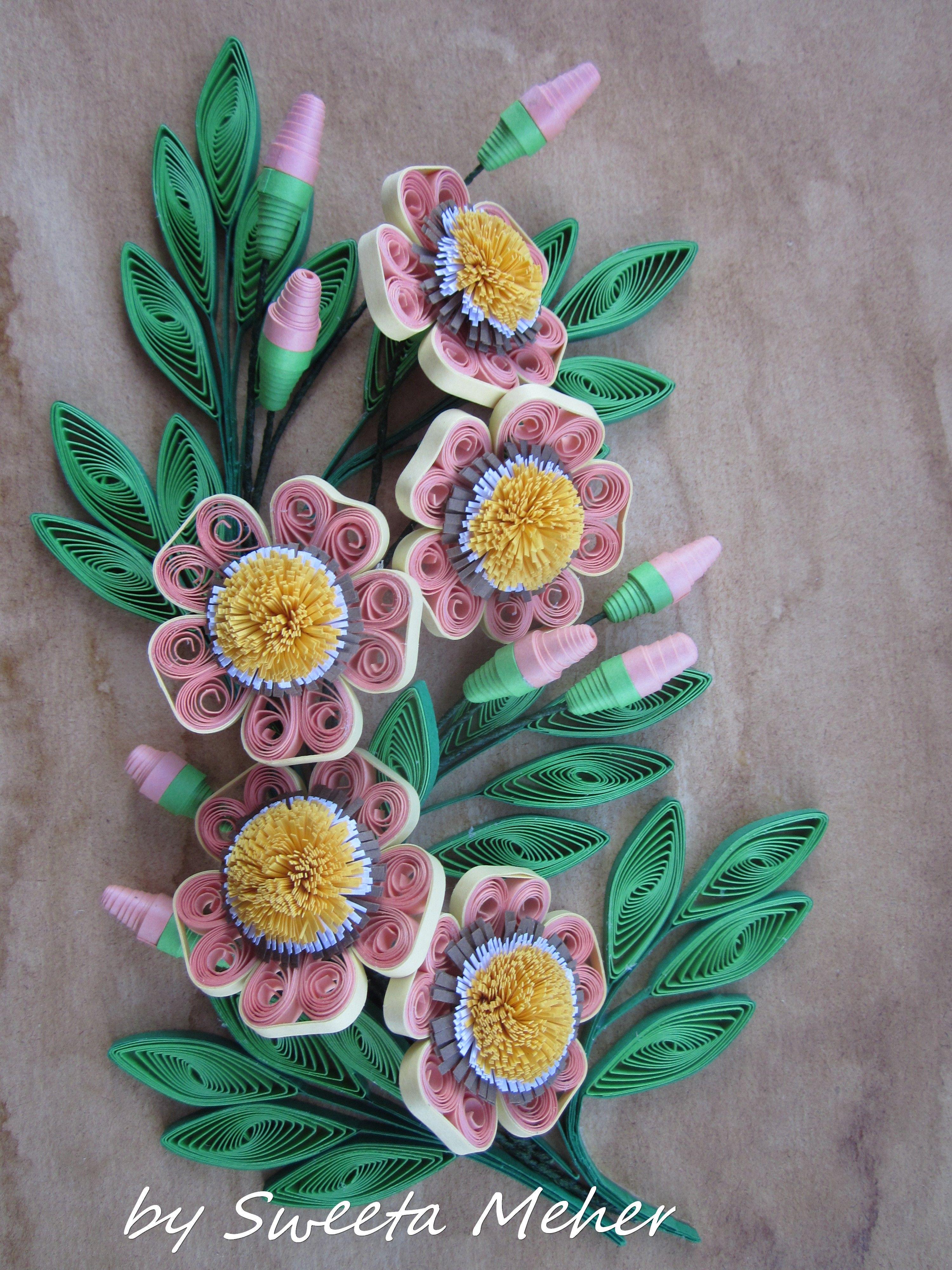 quilling fleurs tuto