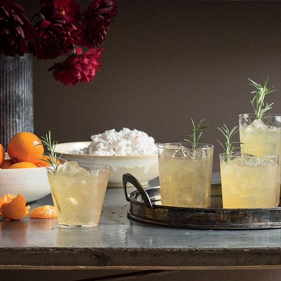 This Rosemary-Ginger Sparkler cocktail combines bourbon, ginger and fresh rosemary to make a super-refreshing drink. Get the recipe from Food & Wine.