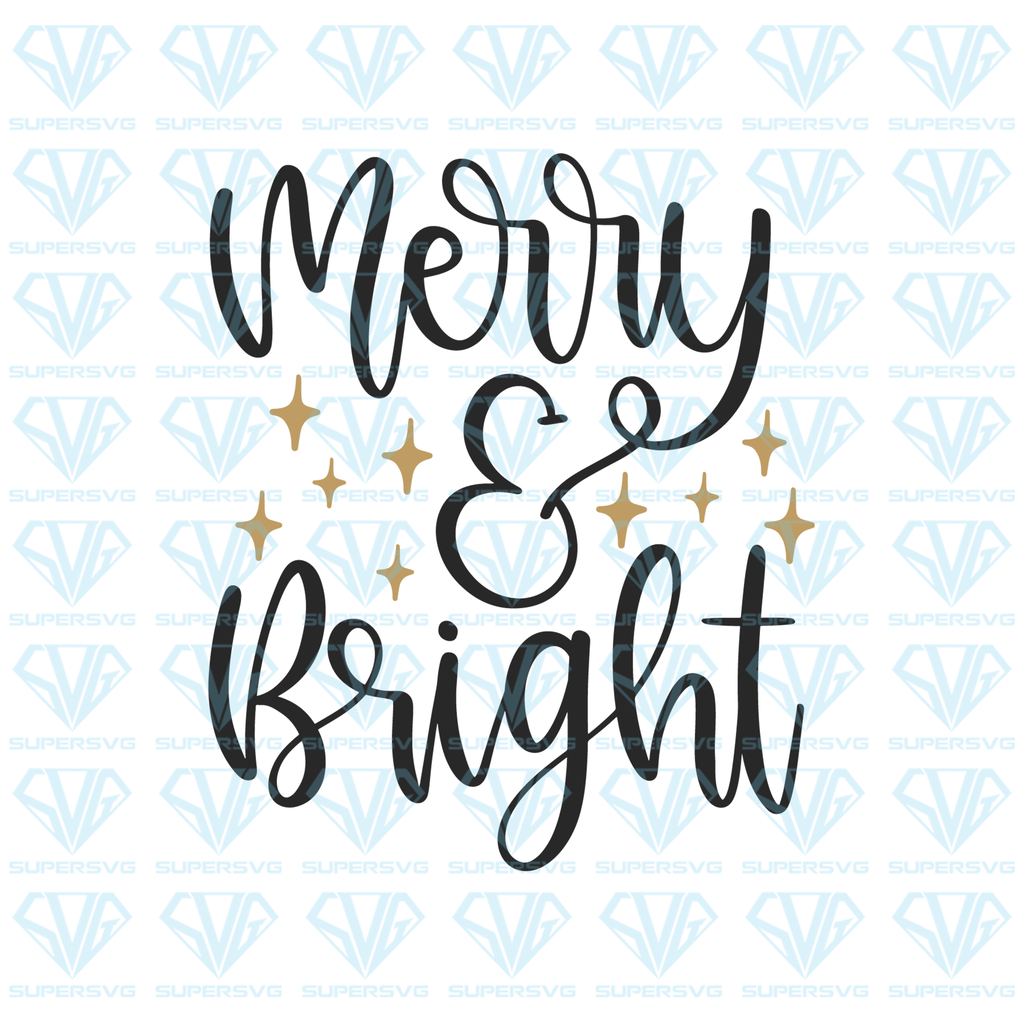 Merry And Bright Svg Files For Silhouette Files For Cricut Svg Dxf Eps Png Instant Download In 2020 Christmas Svg Merry And Bright Svg