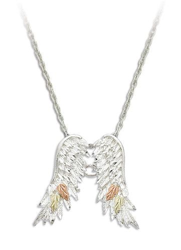 Landstroms black hills goldsilver angel wings pendant ebay tats landstroms black hills goldsilver angel wings pendant ebay aloadofball Image collections