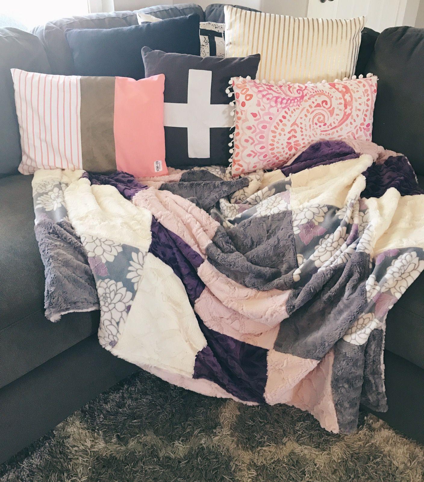 Adult minky blanket blanket decor