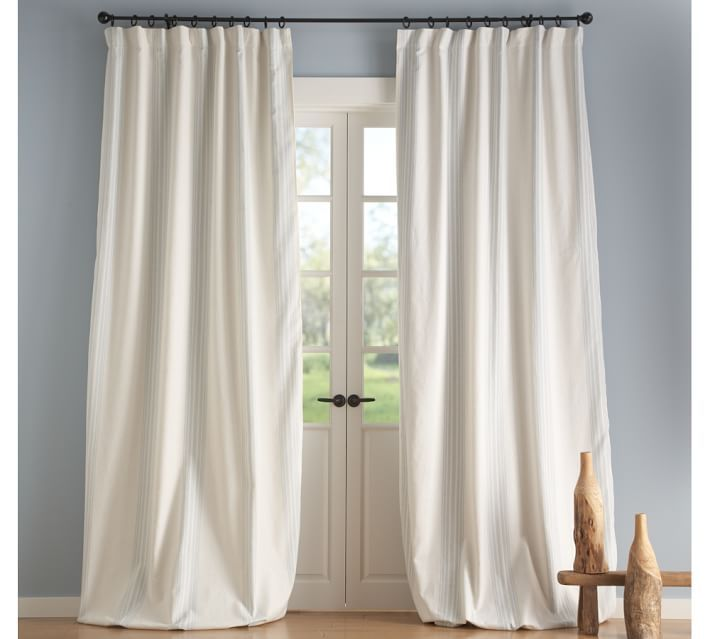 Beautiful White Taffeta French Pleat Curtains | Curtain: Astounding Drape Curtains  Drapes Window ... Blackout DrapesPottery Barn BedroomsWindow ...