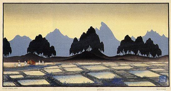 Autumn Evening, Korea  by Lilian Miller, 1928