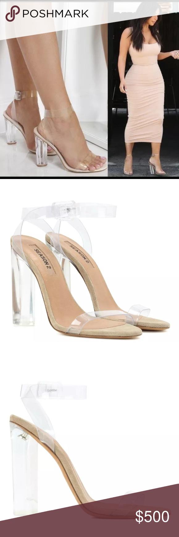 0b68a9e48 Season 2 Yeezy s Lucite sandal heels size 37 BN Brand new Season 2 Yeezy  sandal heels