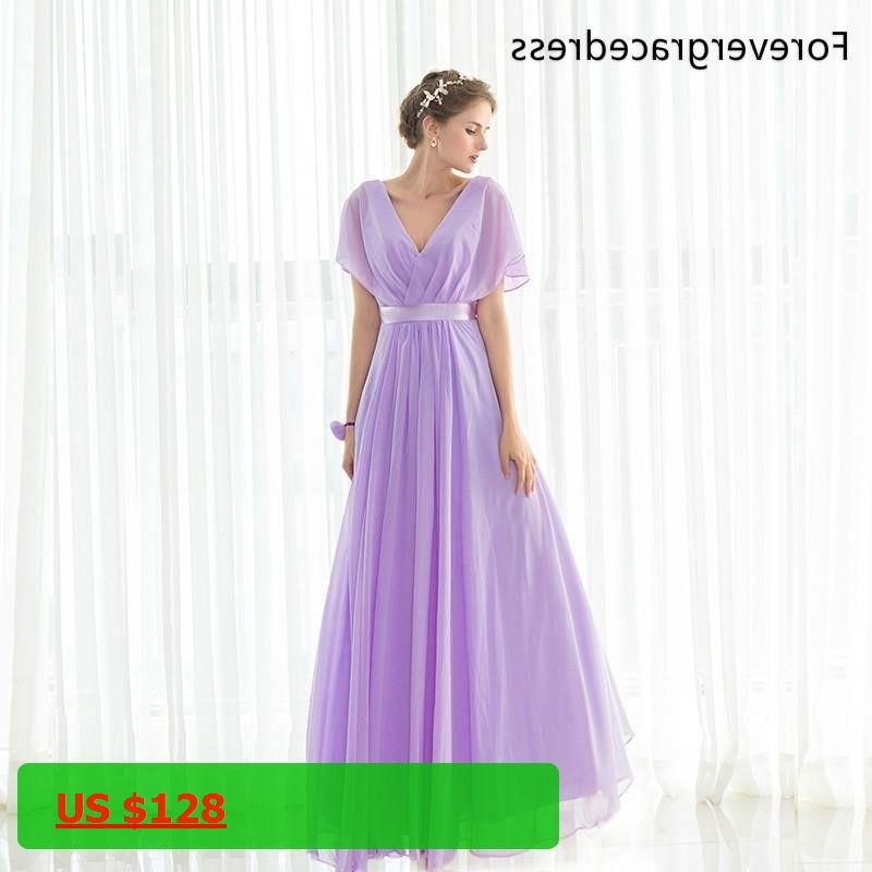Forevergracedress Elegant Cheap Purple Bridesmaid Dress New Arrival ...