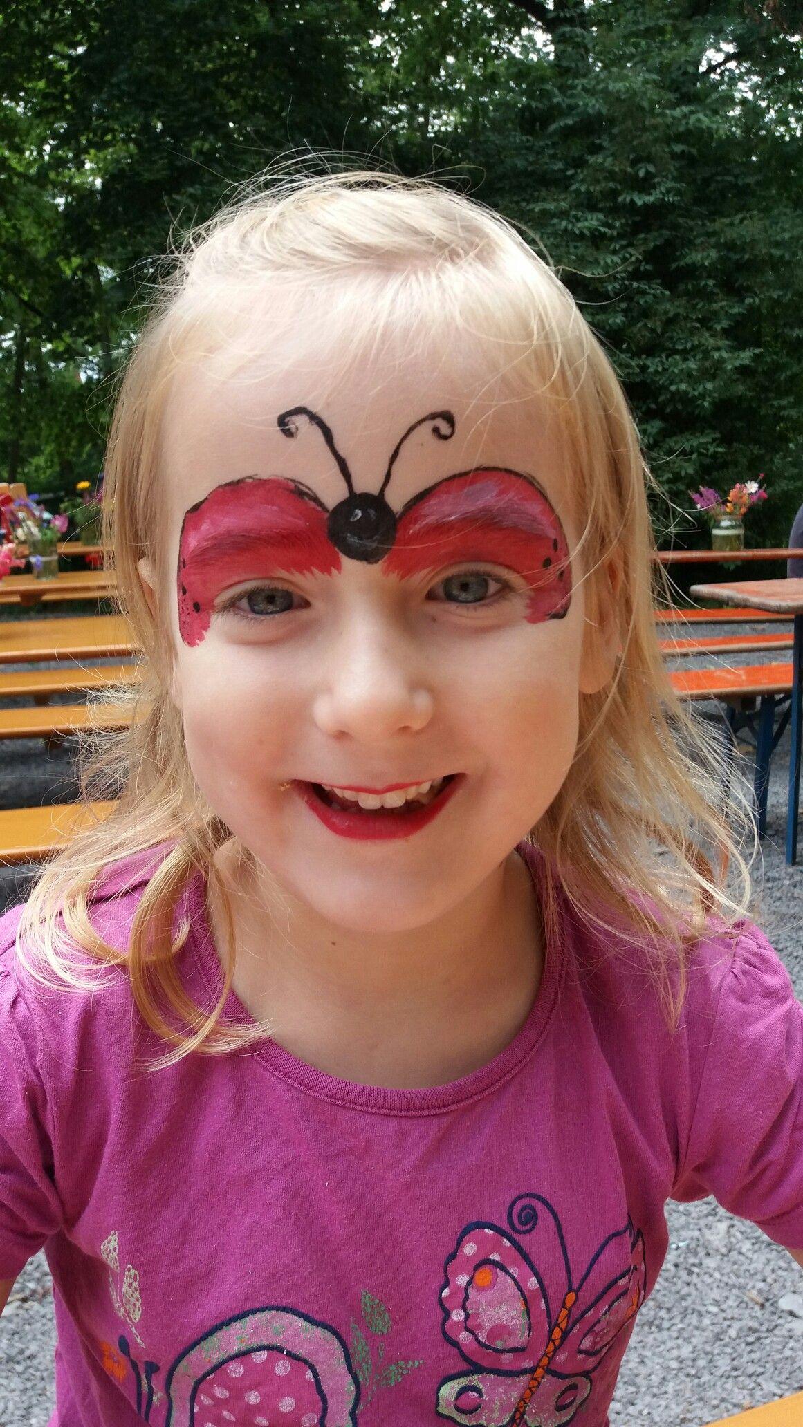 Marienkäfer schminken Kinder schminken Pinterest