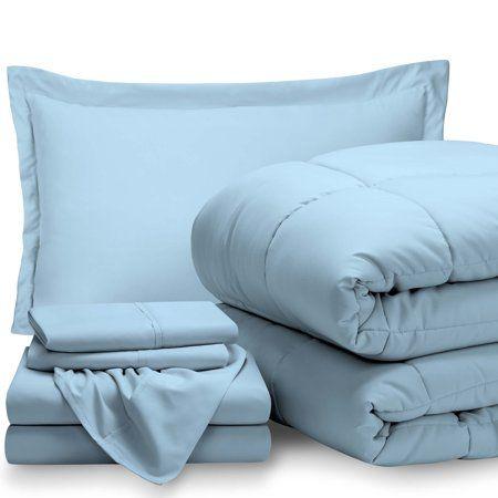 Home Blue Comforter Sets Blue Bedding Bed In A Bag