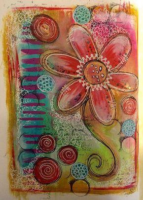 Dylusions art journal page #artjournalmixedmediainspiration