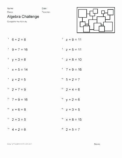 5th Grade Algebraic Expressions Worksheets 7th Grade