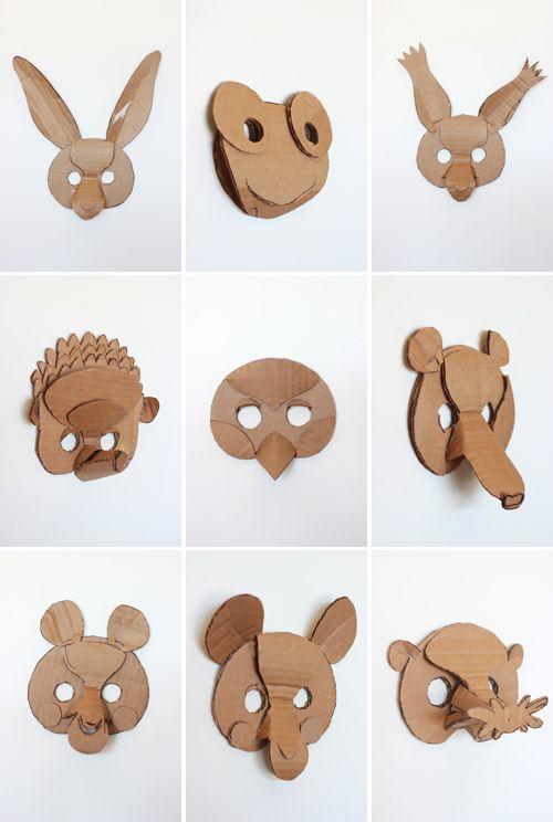 2 diy animals masks j beautiful animales and diy and crafts