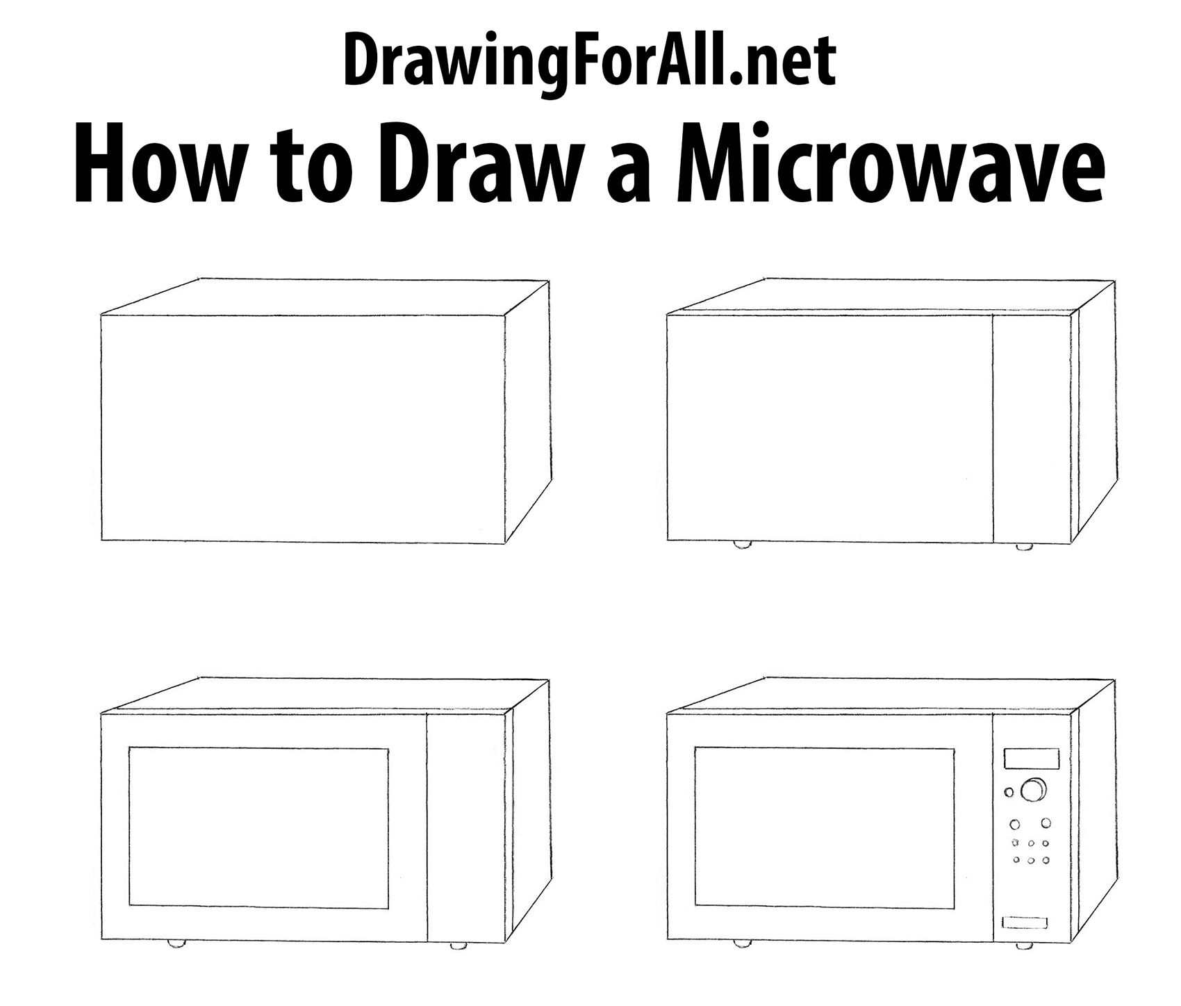 How To Draw A Microwave Http Www Drawingfl