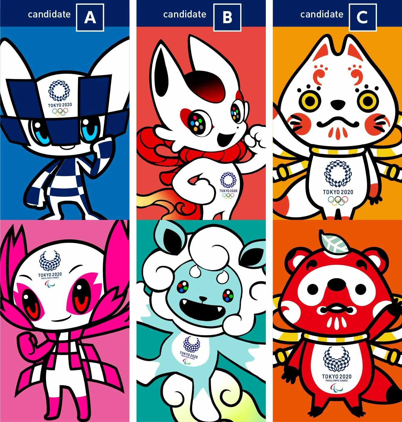 The Tokyo 2020 Olympic Mascot Candidates Unveiled