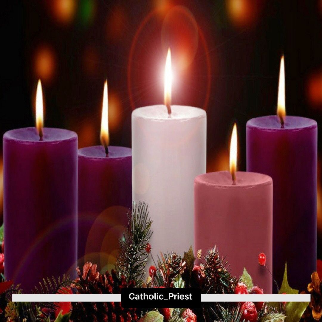 Advent Wreath With The Christ Candle