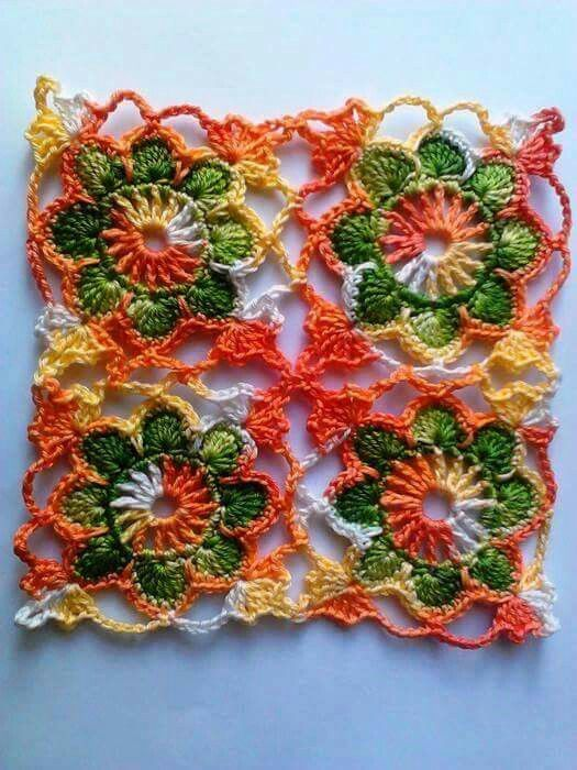 Pin de Joan Nicholes en Crochet Motifs: Granny Squares   Pinterest ...