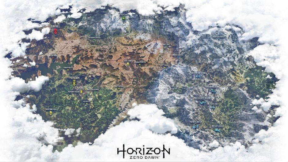 Leaked Horizon: Zero Dawn map looks huge and gives us hints at what Aloy will encounter