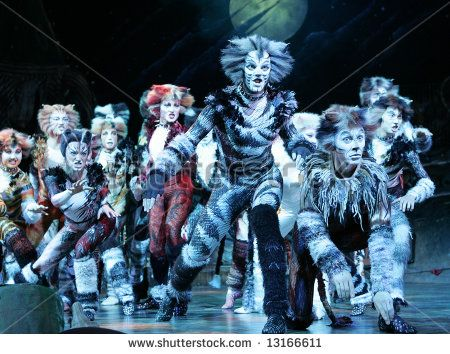 The Cats - a scene from the legendary musical staged in Moscow in 2005.