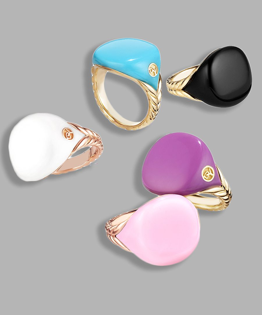 e940b91fe David Yurman's signature Bubblegum Pinky Ring collection. The fine jewelry  brand's limited edition signet rings made of scented resin in flavors like  cotton ...
